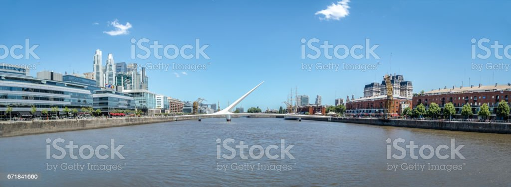 Panoramic view of Puerto Madero - Buenos Aires, Argentina stock photo