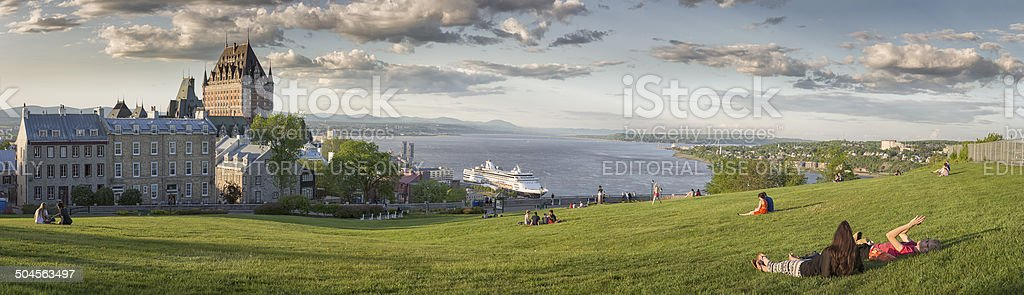 Panoramic view of Quebec City royalty-free stock photo