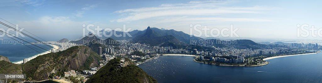 Panoramic view of Rio de Janeiro . Brazil royalty-free stock photo