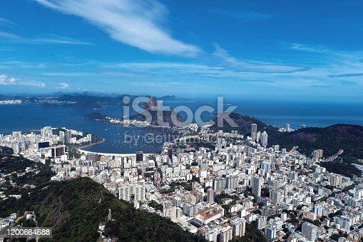 istock Panoramic view of Rio de Janeiro city, Brazil. Great landscape. Famous wonderful city. Travel destination. Tropical travel. Vacation destination. 1200664688