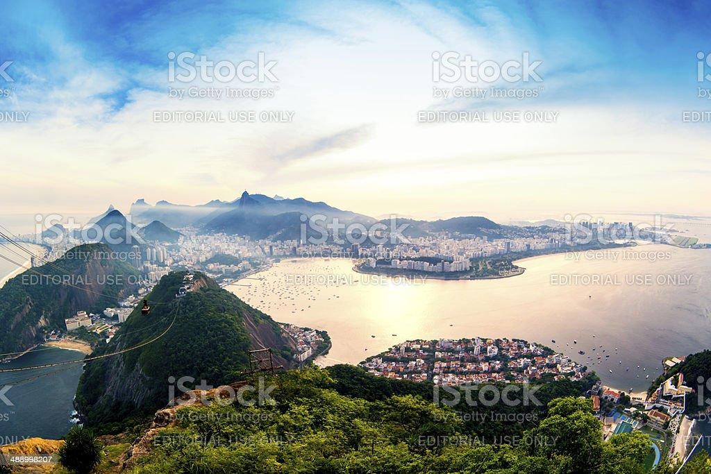 Panoramic view of  Rio de Janeiro royalty-free stock photo