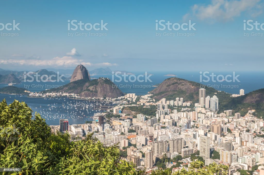 Panoramic view of Rio de Janeiro stock photo