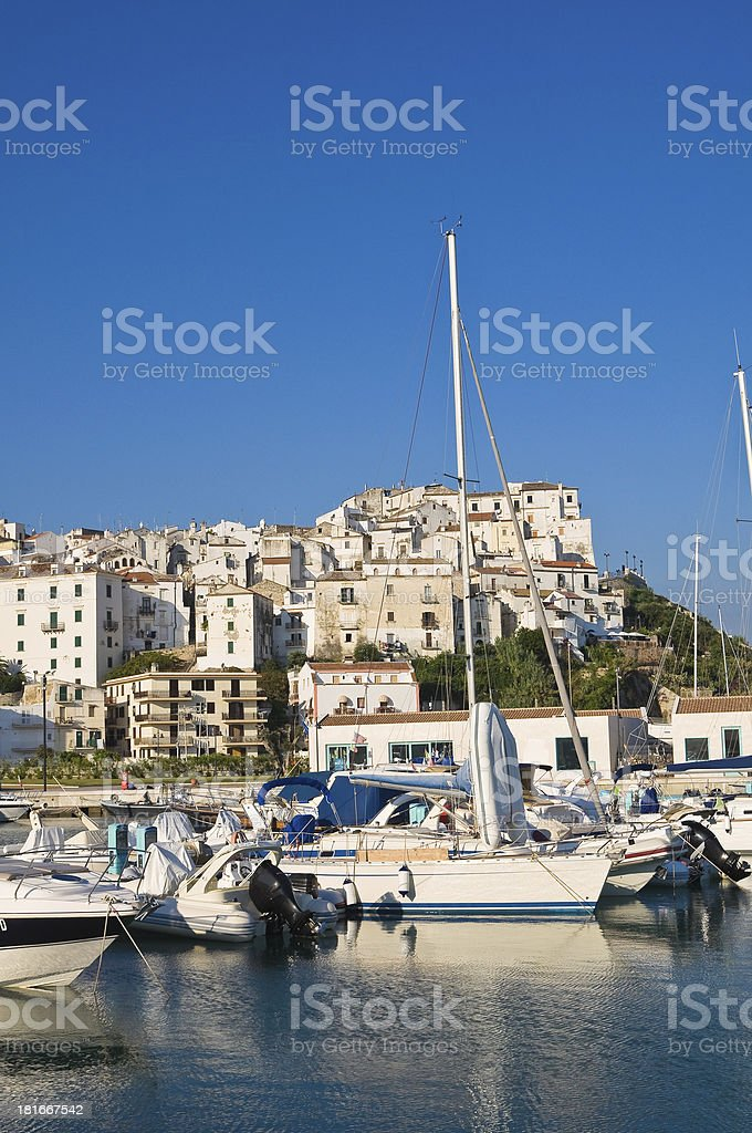 Panoramic view of Rodi Garganico. Puglia. Italy. royalty-free stock photo
