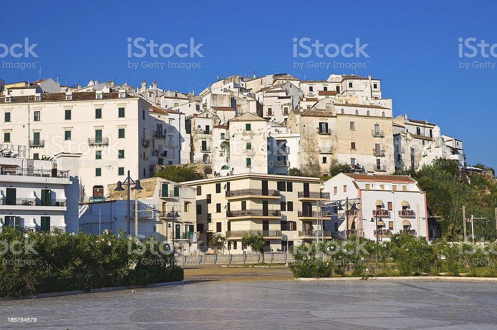 Panoramic view of Rodi Garganico. Puglia. Italy. royalty-free stock photo