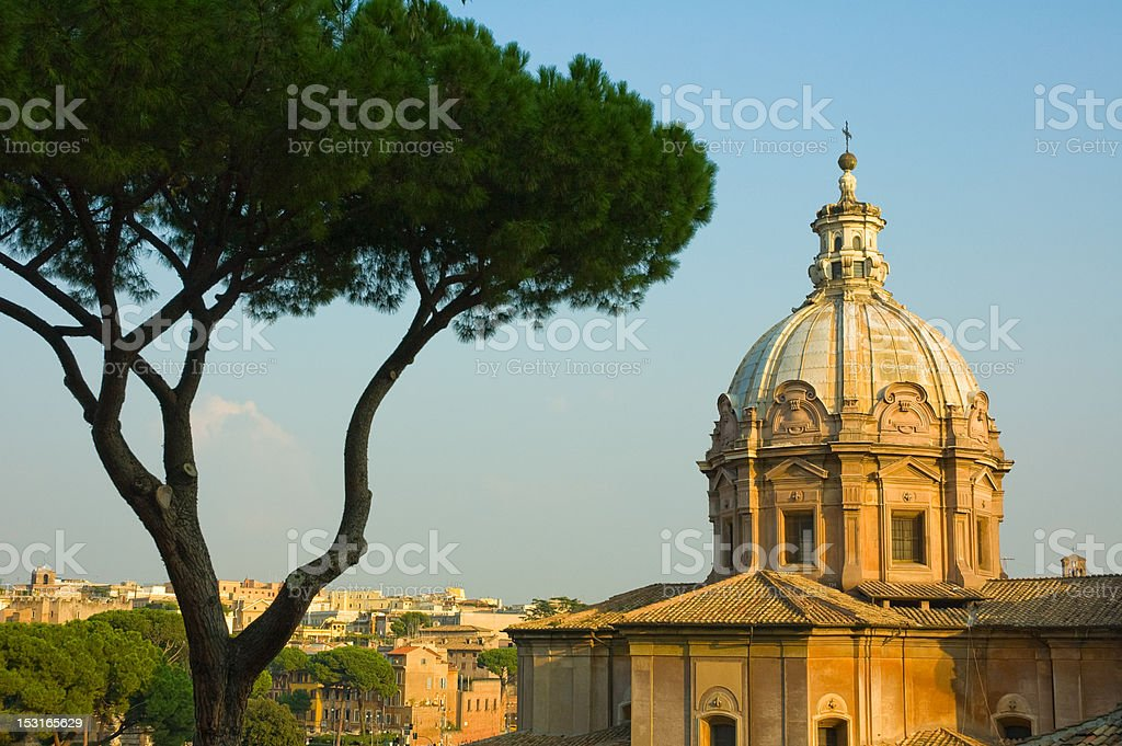 Panoramic view of Rome stock photo