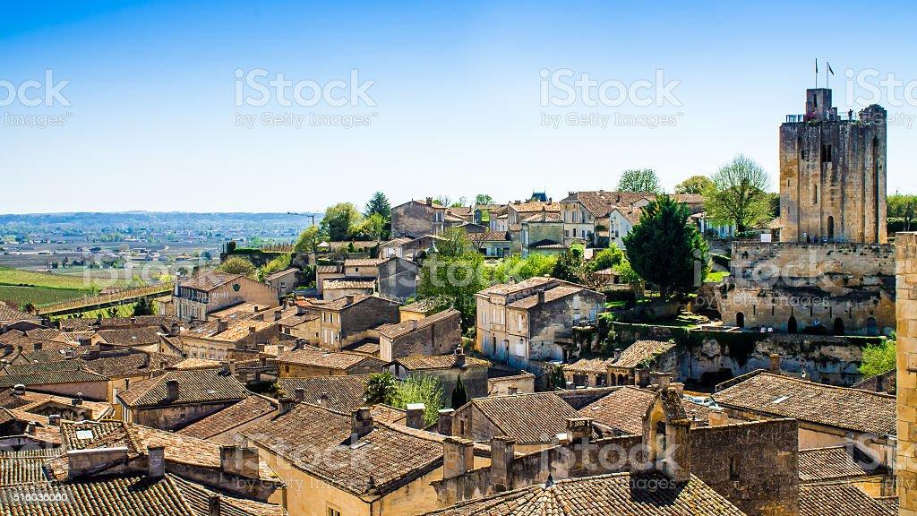 Vue panoramique sur Saint-Emilion près de Bordeaux, France - Photo
