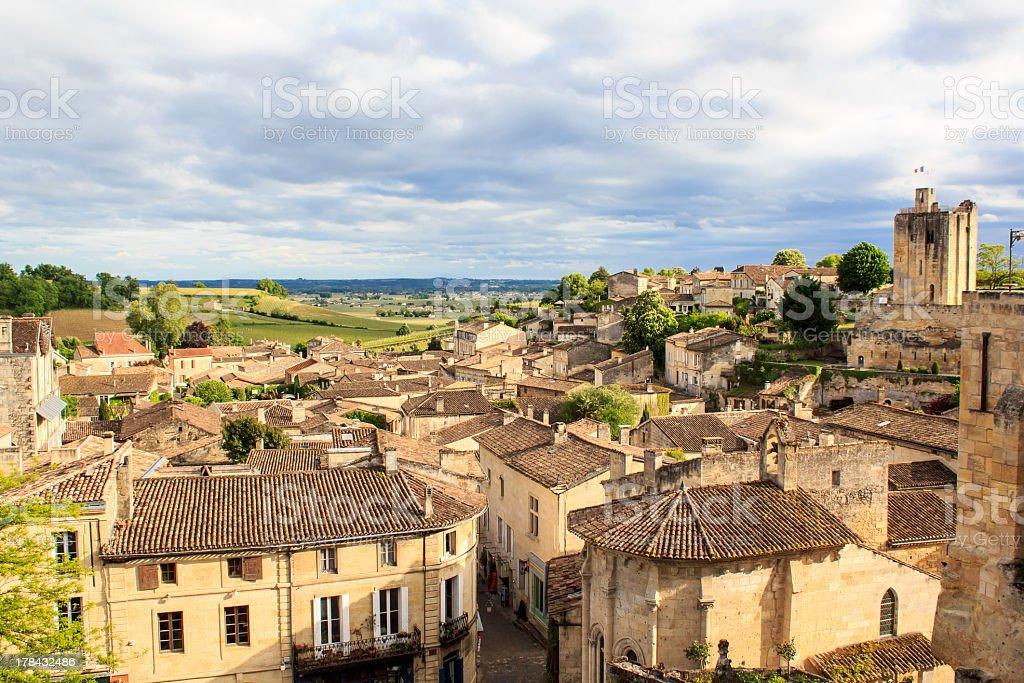 Saint-Emilion village vue panoramique - Photo