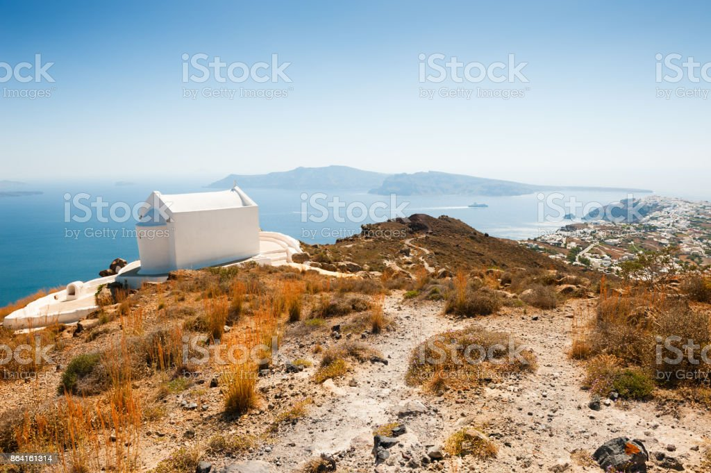 Panoramic view of Santorini island, Greece royalty-free stock photo