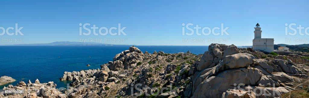 Panoramic view of Sardinia beach, Italy stock photo