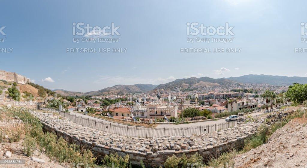 Panoramic view of Selcuk Town in Izmir,Turkey. royalty-free stock photo