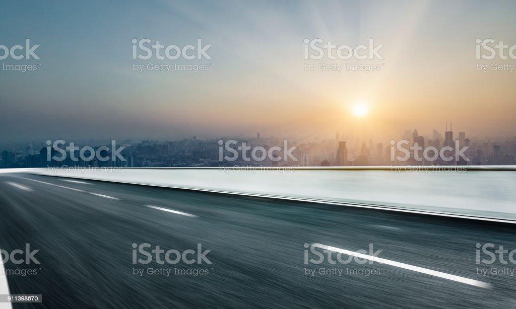 Panoramablick über shanghai Skyline bei Sonnenaufgang/Sonnenuntergang – Foto