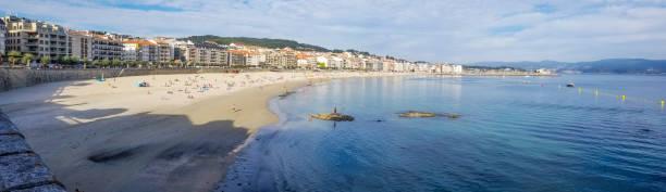 Panoramic view of Silgar beach stock photo
