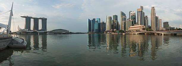 Panoramablick auf Singapur  – Foto