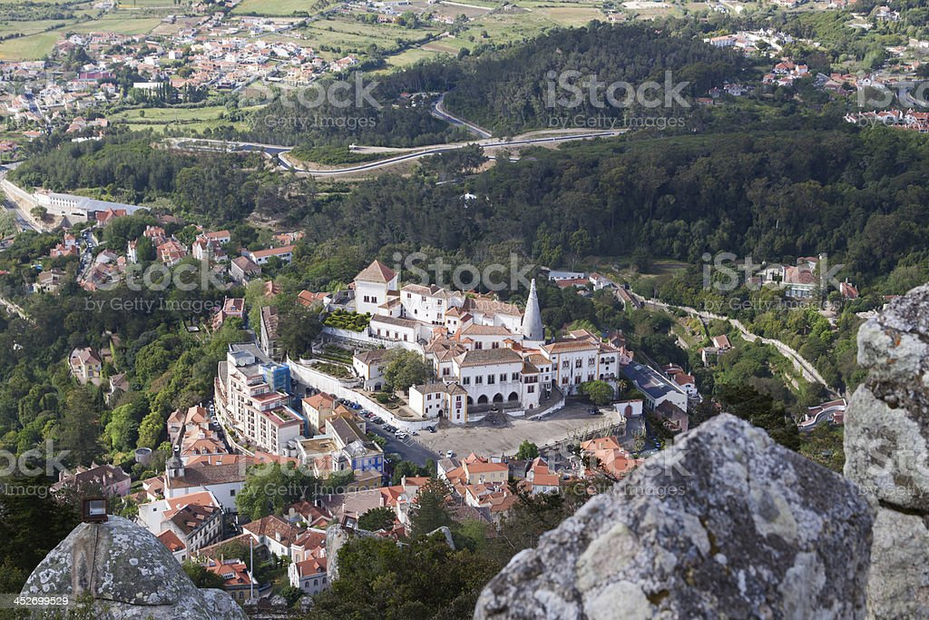 Panoramic view of Sintra, Lisbon province (Portugal) royalty-free stock photo