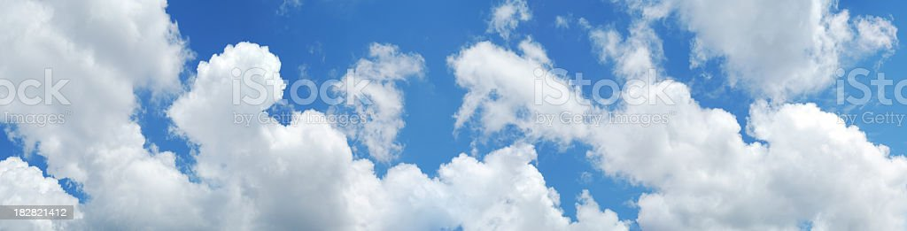 Panoramic view of sky and clouds royalty-free stock photo