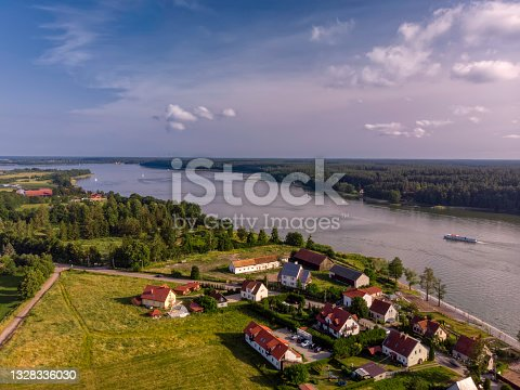istock panoramic view of small lakeside village Mikolajki in Masuria 1328336030