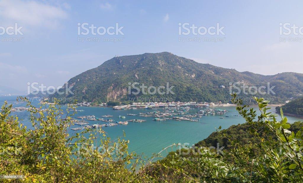 Panoramic view of Sok Kwu Wan Lamma Island stock photo