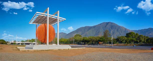 Panoramic view of Soto Sphere with Avila Mountain at the background. La Esfera de Soto stock photo
