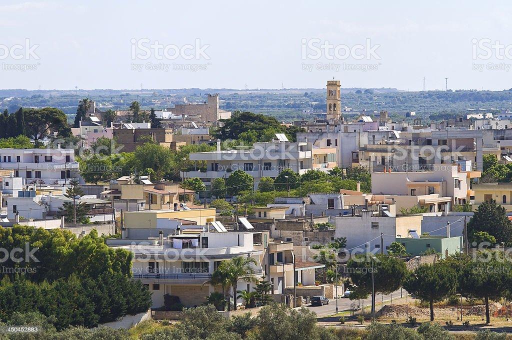 Panoramic view of Specchia. Puglia. Italy. royalty-free stock photo