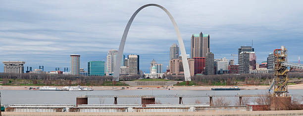 Panoramic View of St. Louis stock photo