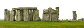Amesbury, England: June 10, 2007: Tourists wandering around the site of Stonehenge, a prehistoric monument in Wiltshire consisting of a series of standing stones.