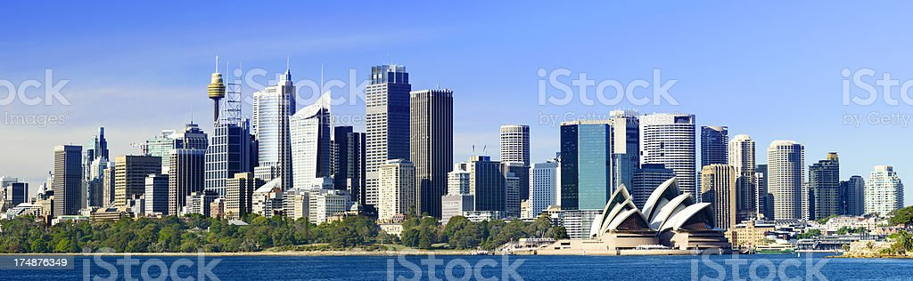 Panoramic View of Sydney City Skyline Australia stock photo