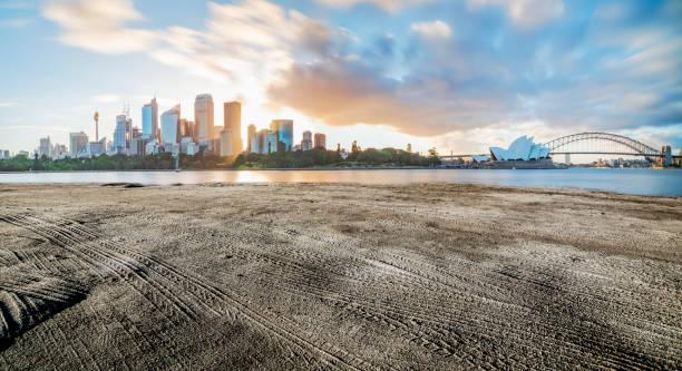 Panoramablick auf Sydney Hafen Skyline gegen Himmel,Australien – Foto