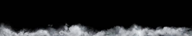 검은 배경에 초록 안개 또는 연기의 이동 합니다. 흐려, 안개 또는 스모그의 흰색 배경. - smoke 뉴스 사진 이미지