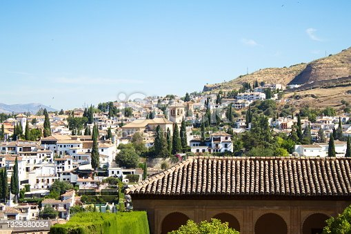 istock Panoramic view of the Albaizín district of Granada from the Alhambra, with the Alcazaba in the foreground 1329380034