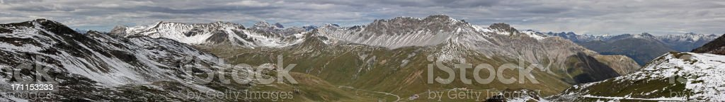 Panoramic view of the Alps royalty-free stock photo