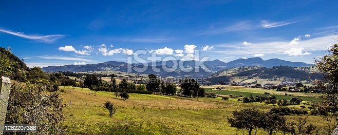 istock Panoramic view of  the beautiful mountains of the municipality of La Calera located on the Eastern Ranges of the Colombian Andes 1282207366