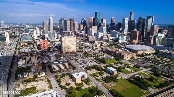 542727462 istock photo Panoramic view of the big city of Houston Texas Skyline Cityscape downtown skyscrapers 981006200