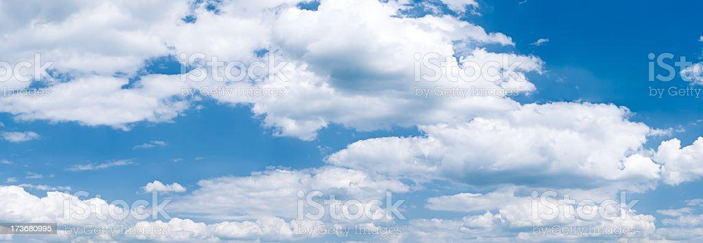 Panoramic view of the blue sky 73MPix XXXXL royalty-free stock photo