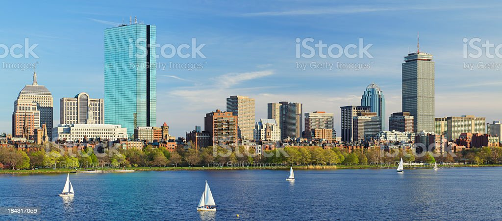 Panoramic view of the Boston skyline royalty-free stock photo