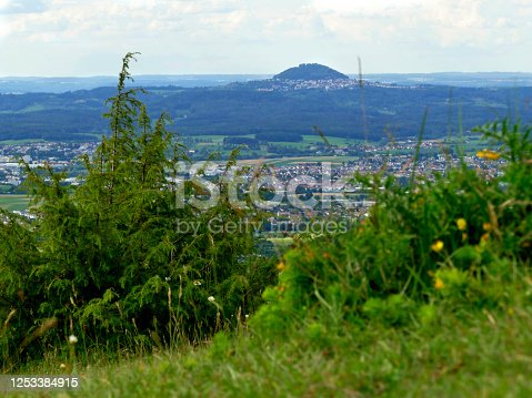 istock Panoramic view of the Celtic grave hill Burren to the famous hill Hohenstaufen 1253384915