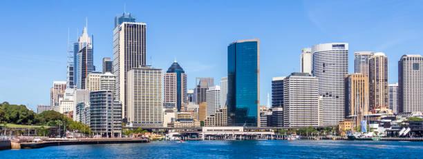 Panoramablick auf das zentrale Geschäftsviertel – Foto