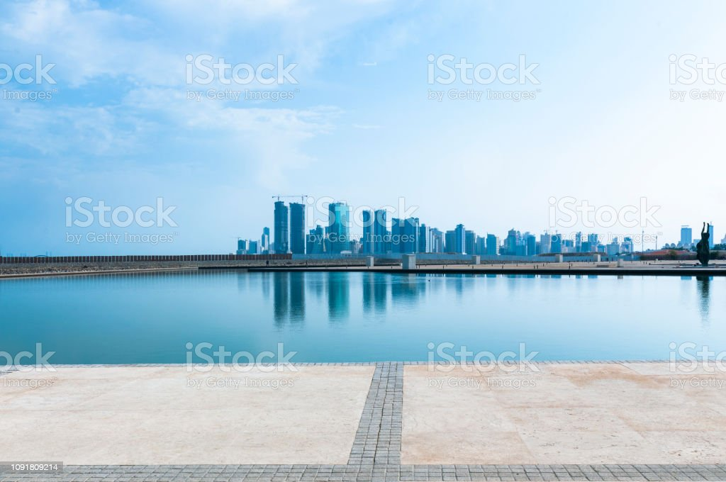 MANAMA, BAHRAIN, DECEMBER 30, 2018: panoramic view of the city. Manama of Bahrain stock photo