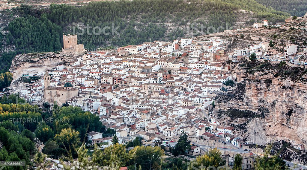 Panoramic view of the city, on top of limestone mountain foto de stock royalty-free