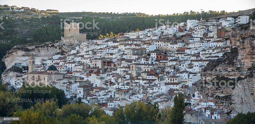 Panoramic view of the city, on top of limestone mountain zbiór zdjęć royalty-free