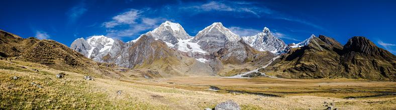 istock Panoramic view of the Cordillera Huayhuash, Peru 956407140