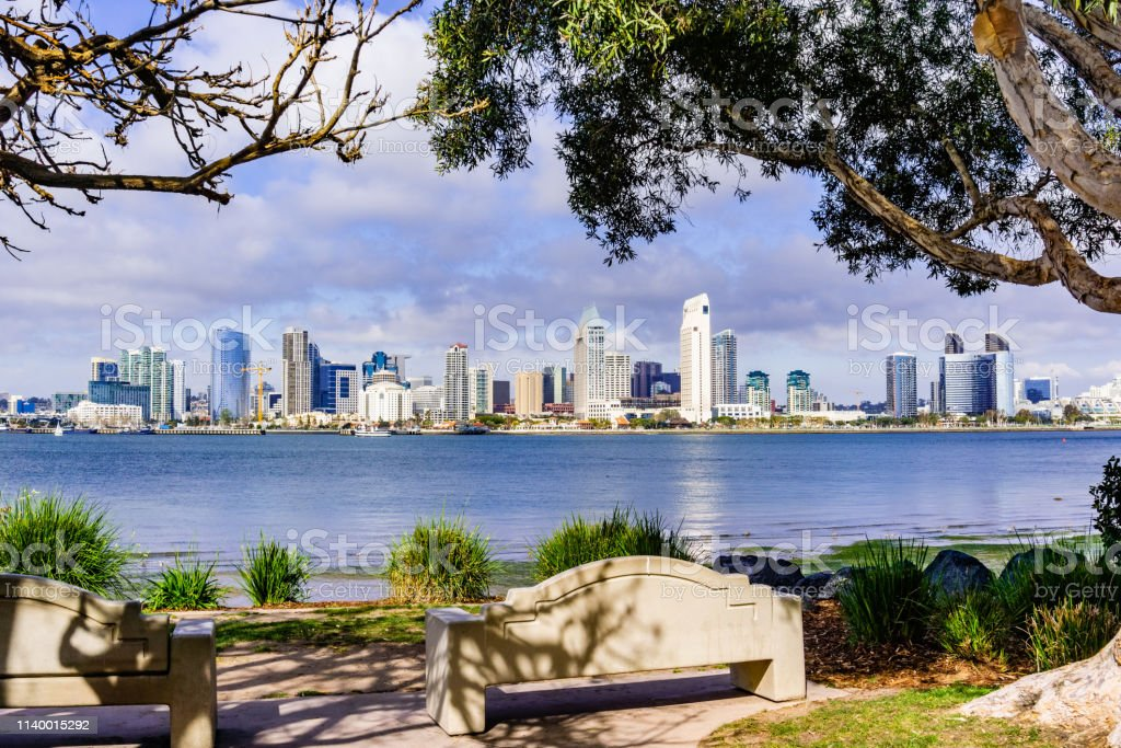 Panoramic View Of The Downtown San Diego Skyline Taken From Coronado Island California Stock Photo Download Image Now Istock