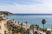 Beach in Lloret de Mar, Spain, Europe