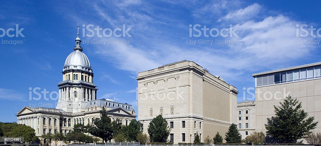 Panoramic view of the Illinois state Capitol stock photo