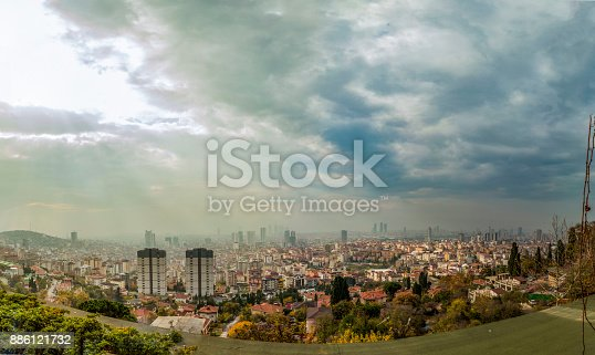 Panoramic View Of The Kartal District Istanbul Turkey Stock Photo