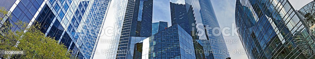 Panoramic view of the La Defense, commercial and business center stock photo