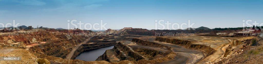 Vista panorámica de la Minas de Rio Tinto, minas con abren la minería a cielo. Huelva, Andalucía, España - foto de stock