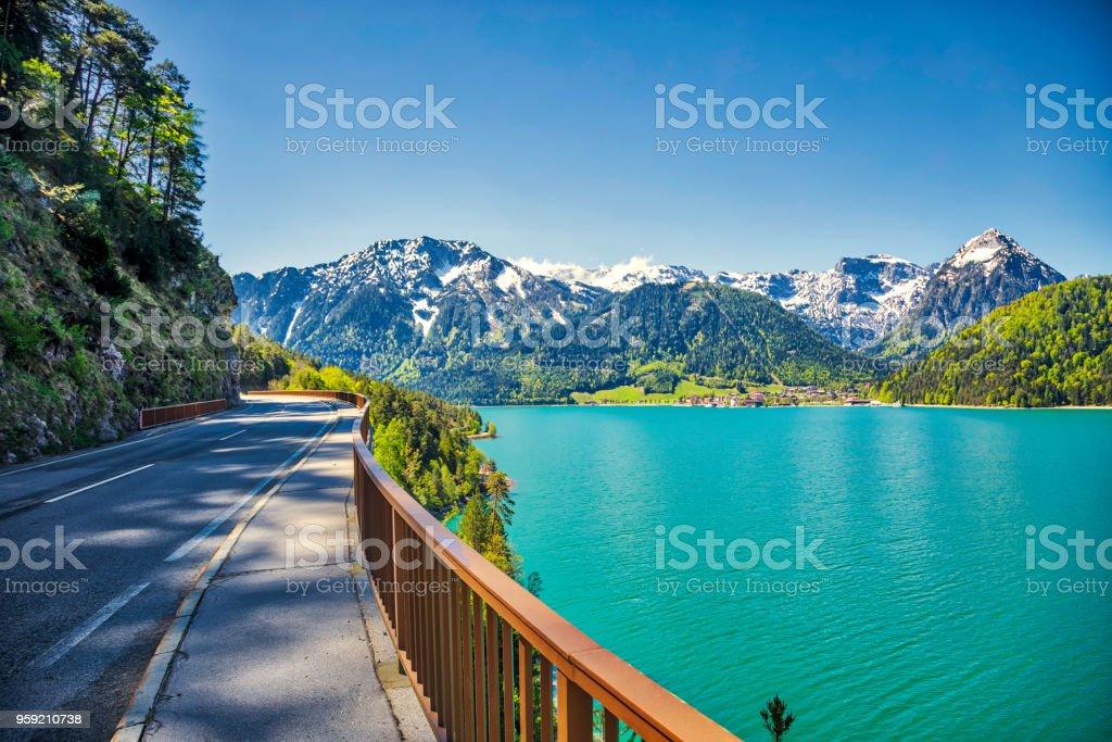 panoramic view of the mountain road (HDRi) – zdjęcie