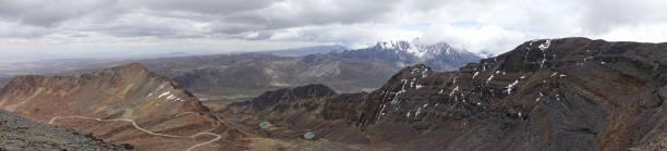 Vue panoramique des montagnes de la région de La Paz, Bolivie stock photo