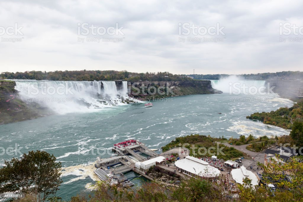Panoramic view of the Niagara Falls stock photo