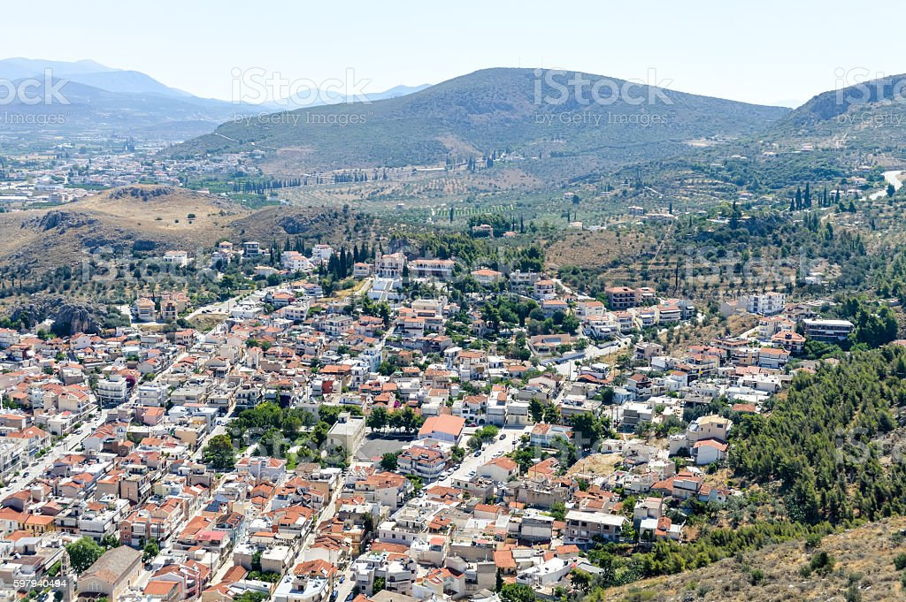 Panoramic view of the old town of Nafplio, Greece foto royalty-free